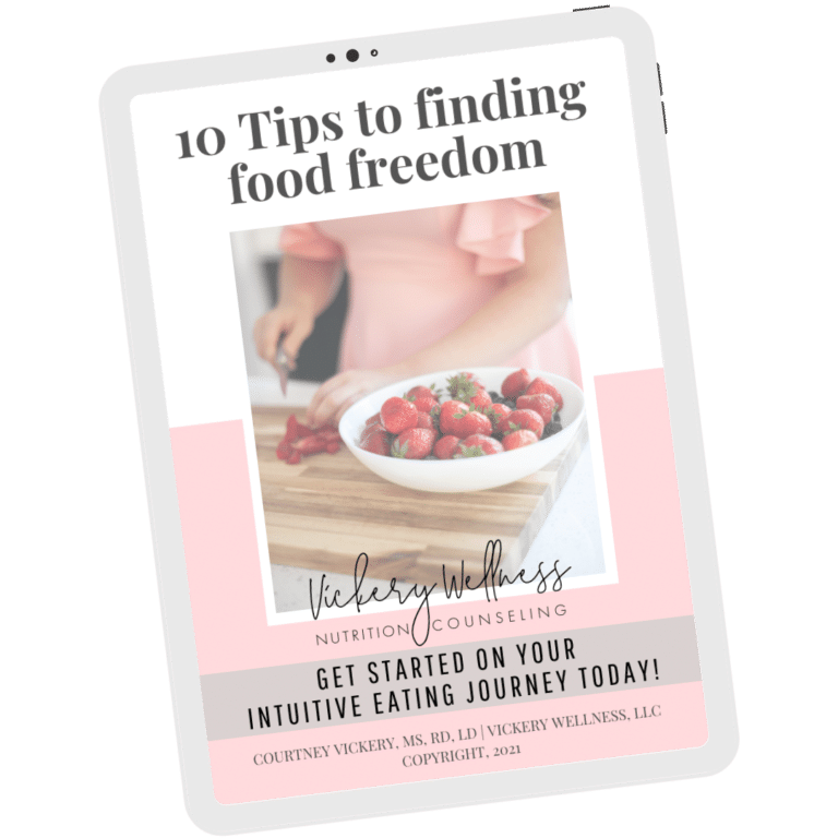 10 tips to finding food freedom, dietitian nutritionist athens, ga