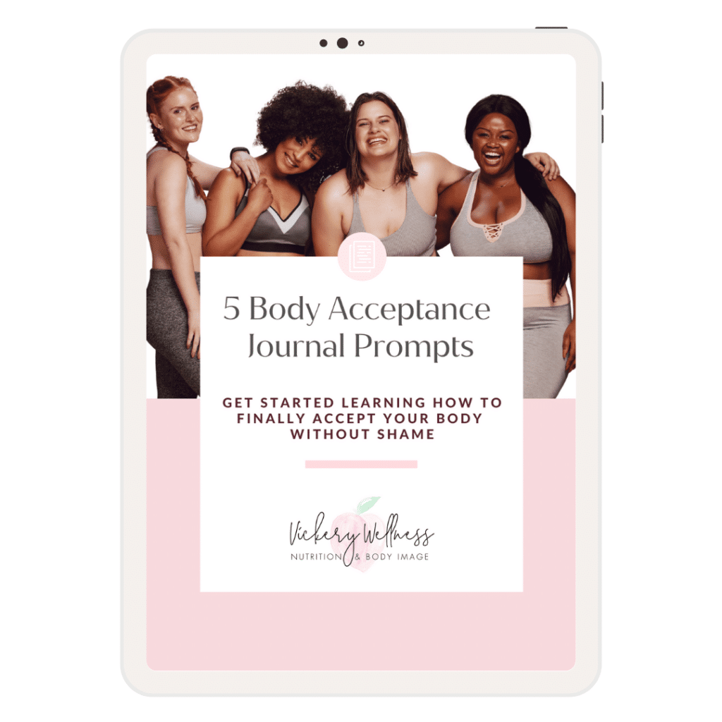 body image journal prompts