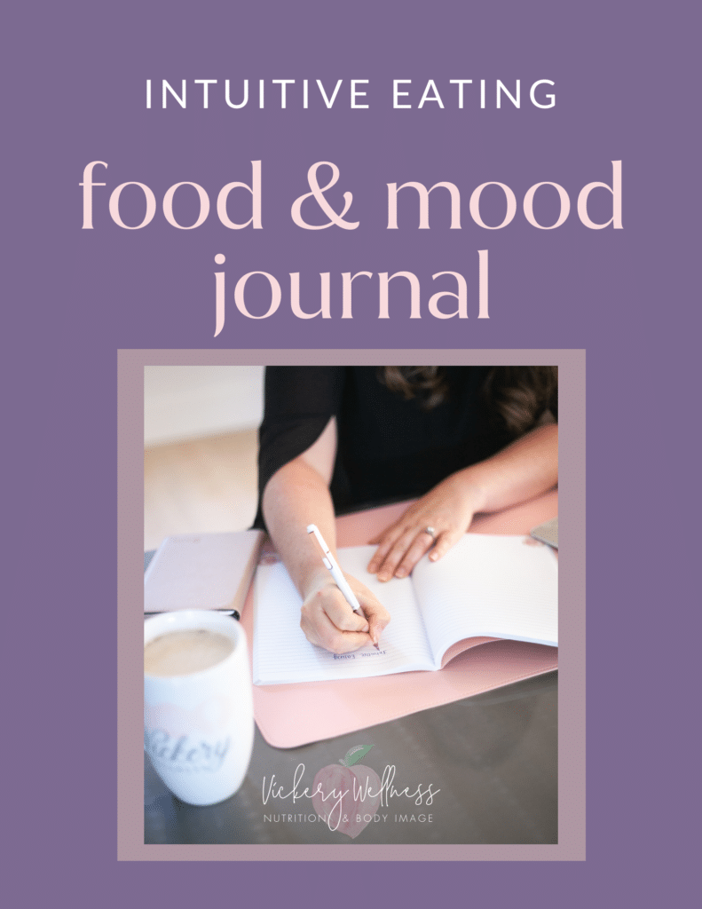 food and mood journal for intuitive eating