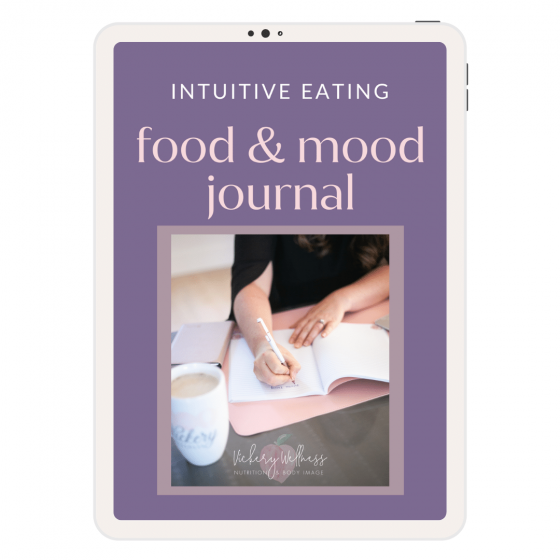 food and mood journal intuitive eating